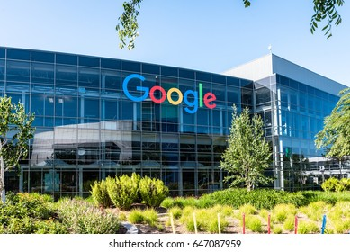 Mountain View, Ca USA May 7, 2017: Googleplex - Google Headquarters office buildings