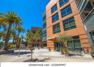 Mountain View, California, United States - August 15, 2016: Google Buildings 1900 and 2000 form a small group to the east near the neighbouring main Googleplex. Google is a multinational corporation.