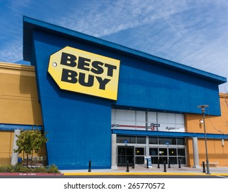 MOUNTAIN VIEW, CA/USA - APRIL 1: Best Buy electronics store on Apr 1, 2015 in Mountain View, CA, USA. Best Buy is an American multinational consumer electronics corporation.