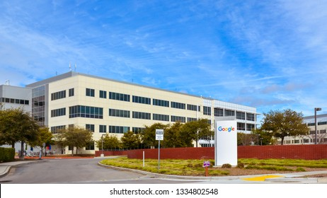 Mountain View, CA/USA - Mar. 9, 2019: Google building, Mountain View, CA. Google is a high technology company with headquarters in Mountain View, CA.