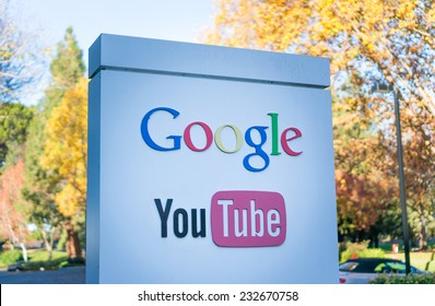 MOUNTAIN VIEW, CA/USA - NOV 22, 2014: Exterior view of Google's Youtube office. It is a multinational company specializing in Internet related services and products.