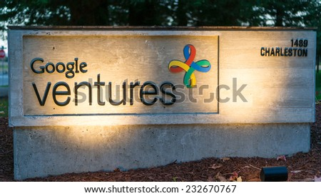 MOUNTAIN VIEW, CA/USA - NOV 22, 2014: Exterior view of Google Ventures office. It is the venture capital investment arm of Google Inc. and provides seed funding to technology companies.