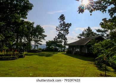 Mountain view in the Doi Khun Tan national park Chiang Mai Thailand