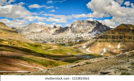 The mountain view from Dolomite Pass in Banff National Park, Canada, Banff