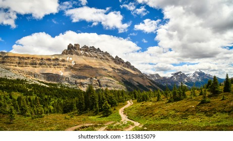 The Mountain View of Dolomite Peak from Dolomite Pass in Banff National PArk, Alberta, Canada