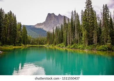 Mountain view at Emerald lake lodge