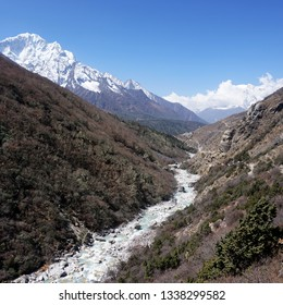 Mountain View at Himalayan Khumbu Region, enroute to Everest Base Camp