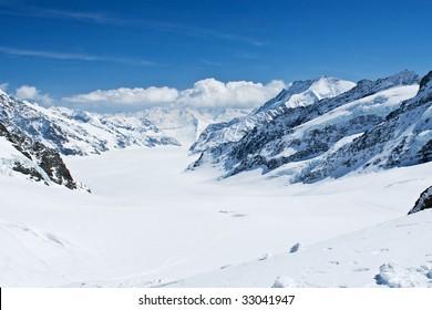Mountain view from the Jungfraujoch (Switzerland)