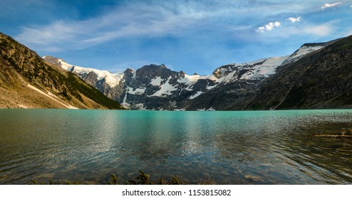 Mountain view at Lake of the Hanging Glacier, Purcell Mountains, British Columbia, Canada