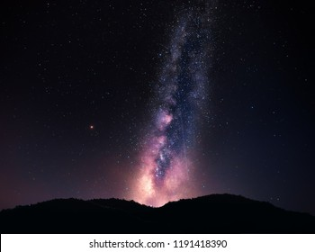 Mountain View and Milky Way