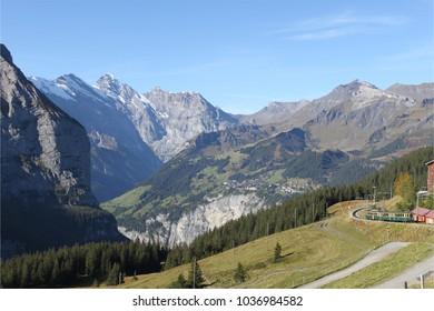 Mountain view near Murren, Switzerland