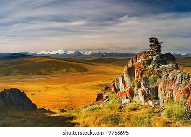 Mountain view, Plateau Ukok