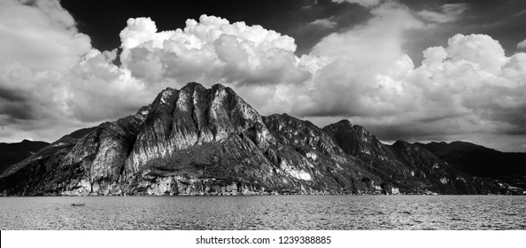 Mountain view at Riva Di Solto (IT) over the lake