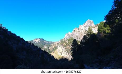 Mountain view in Sierras de Cazorla, Segura y las Villas Natural Park Spain
