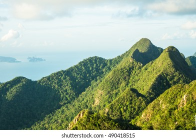Mountain view from the top of Langkawi, Malaysia