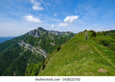 Mountain view towards Crna prst in Slovenian alps - Shutterstock ID 1428221762