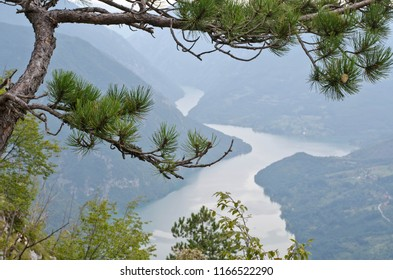 Mountain viewpoint at the Drina river - Serbia