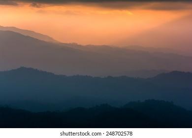 Mountain views, Landscape,Viewpoint on Doi Inthanon