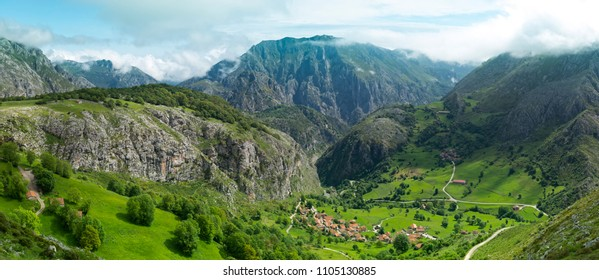 Mountain village of Bejes ,Picos de Europa National Park ,Spain