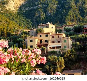 Mountain village Deia in Mallorca, Balearic island, Spain