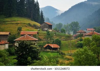 Mountain village in Eastern Europe