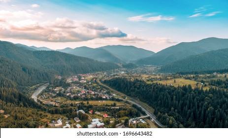 Mountain village from a height