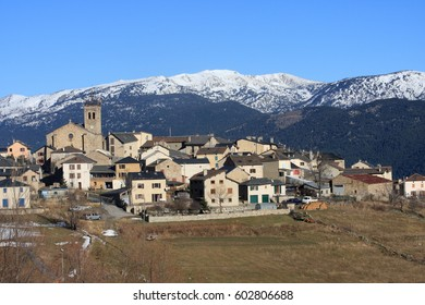 Mountain village of Les Angles in Pyrenees Orientales, France