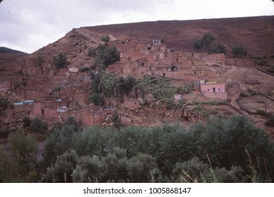 Mountain village on the slopes of the High Atlas Mountains, Morocco