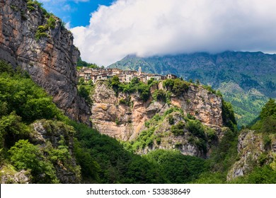 Mountain village of Realdo in Liguria, Northwestern Italy.