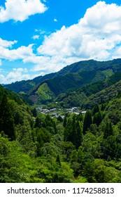 Mountain village, Saiki-shi Oita-ken Japan.