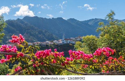 Mountain village Sao Vicente, Madeira island, Portugal