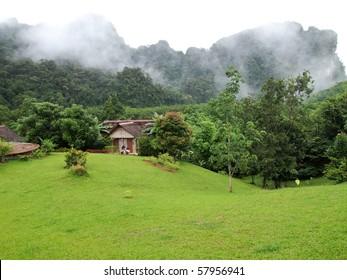 Mountain village in Thailand