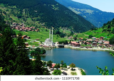 Mountain village of Uzungol in Trabzon, Turkey. (Long Lake)