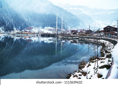 Mountain village of Uzungol in Trabzon, Turkey  Lake