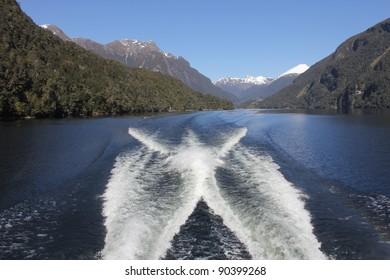 Mountain vista in Fiordland, New Zealand