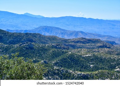 Mountain vista on the Mt Lemmon Scenic Byway just outside Tucson, Arizona.