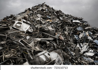 Mountain of waste, steel to recycle