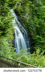 Mountain waterfall in Highlands, Drumnadrochit, UK