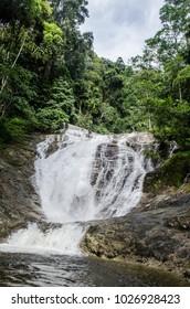 Mountain Waterfalls in between the woods