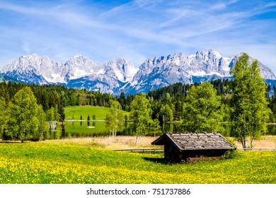mountain wilder kaiser in austria