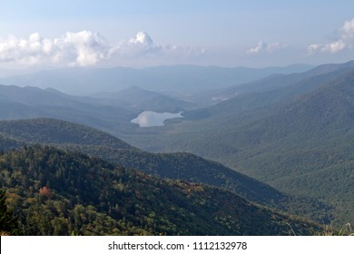 Mountain wilderness high elevation view from Mount Mitchell State Park in North Carolina, the highest peak of the Appalachian Mountains and eastern North America