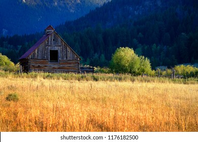 Mountain wilderness old barn vintage building weathered abandoned
