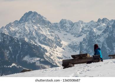 mountain winter landscape tatry view from rusinowa glade - Shutterstock ID 1360508687