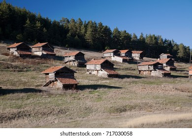 Mountain wooden houses in Zonguldak Turkey