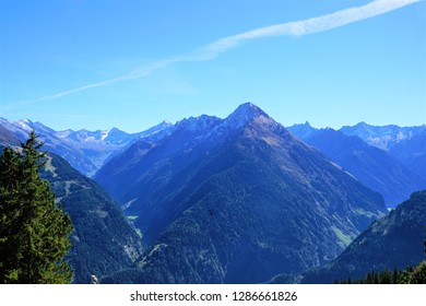 Mountain in Zillertal in Austria in summer time
