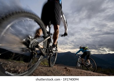 Mountain-bike - Mountain biking by night