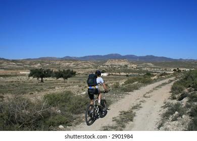 Mountainbike-tour at Cabo de Gata, Spain