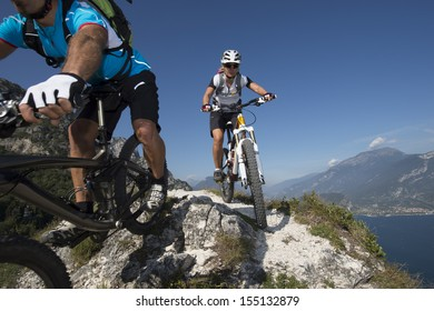 Mountainbiking - blurred Motion