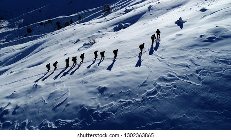 mountaineering activity and ceremonies concept
