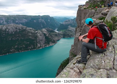 Mountaineering, mountain activities and spectacular geography in the high mountains of Kjerag